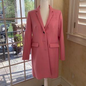J. Crew long pink coat